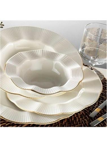 Kütahya Porselen Milena Yemek Takımı Seti 24 Prç.Yaldızlı Renkli